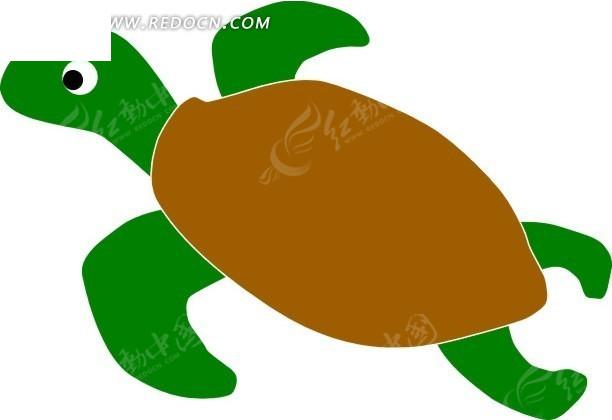 乌龟 海龟 卡通动物 卡通画 插画 手绘 矢量素材 动物图片 卡通形象