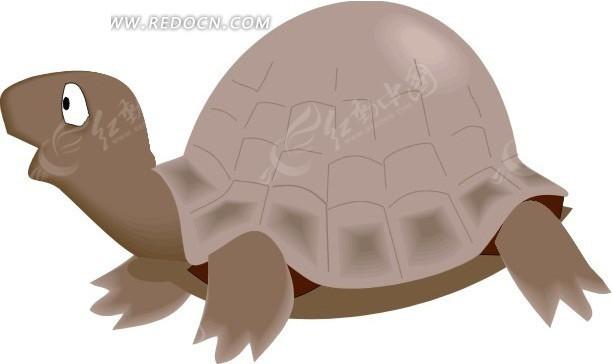 儿童手绘伸长脖子的小乌龟