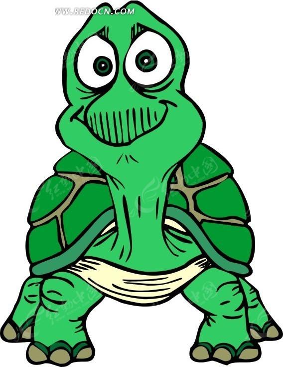 手绘瞪大眼睛的乌龟图片