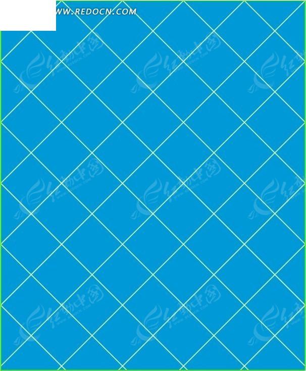 蓝色背景上的白色斜格子矢量图矢量图其他免费下载 办公学习素材