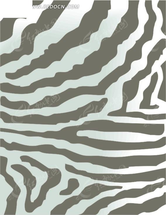 手绘斑马条纹