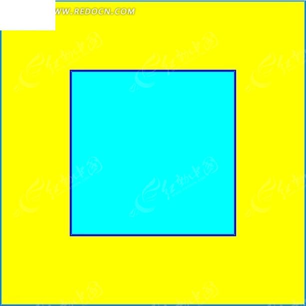 色背景下的青色正方形矢量图其他免费下载 办公学习素材