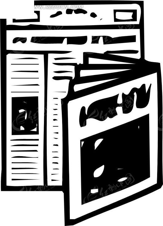 手绘报纸和杂志图片