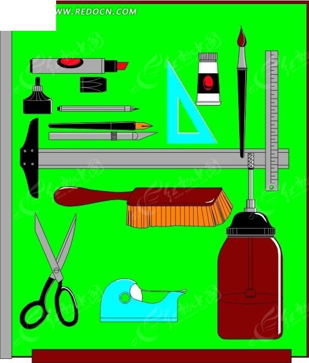 生活用品图案; 手绘手工劳作美工工具; 办公用品0083