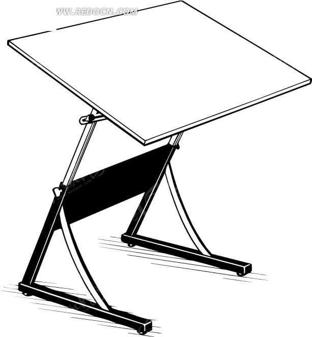 wmf格式 设计桌 画桌 绘画桌 绘图桌 卡通 绘画 手绘 办公用品 生活