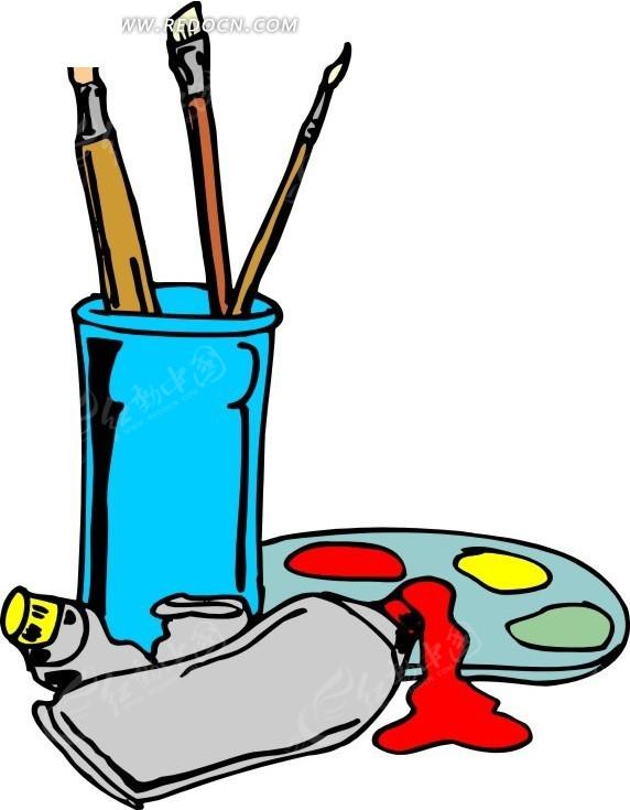 卡通手绘美术用具其他素材免费下载(编号1708113)_红