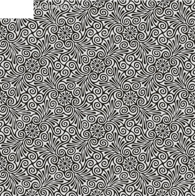 欧式墙纸4矢量图_底纹背景