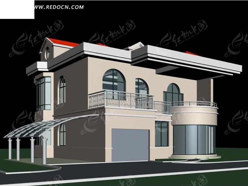 欧式的三层别墅3d模型