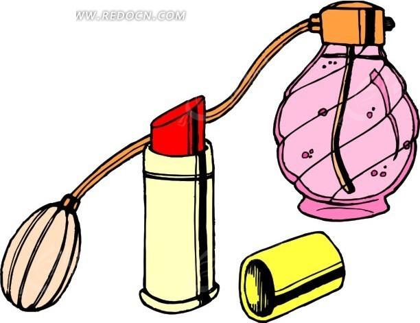 香水瓶与口红