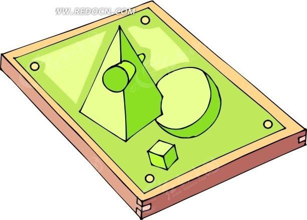 手绘裱起的几何图形画框
