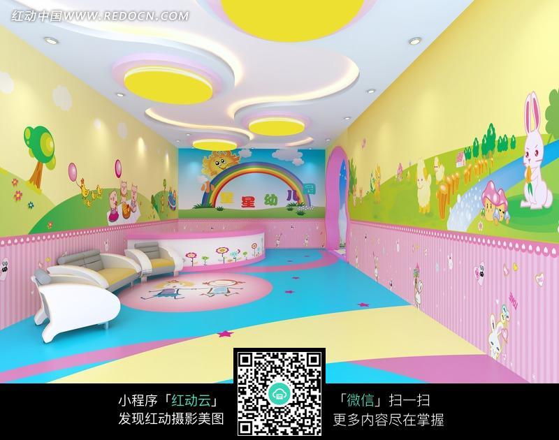 幼儿园前台设计图片_室内设计图片