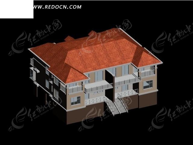 复式别墅3d模型设计