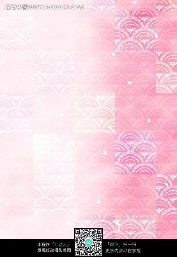 手绘青铜器鱼鳞纹_传统图案_红动手机版