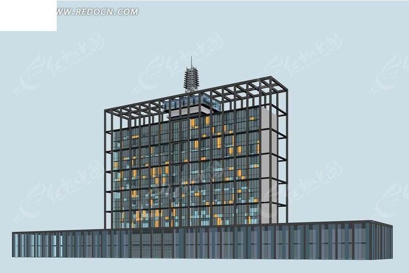 公共建筑3d效果图