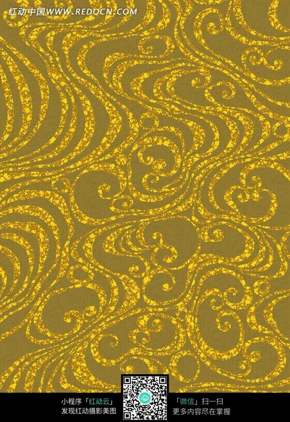 浅灰色背景金色云纹花纹图案素材图片 花纹 花边 线条 背景图