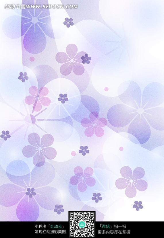 紫蓝色花朵图案背景图片