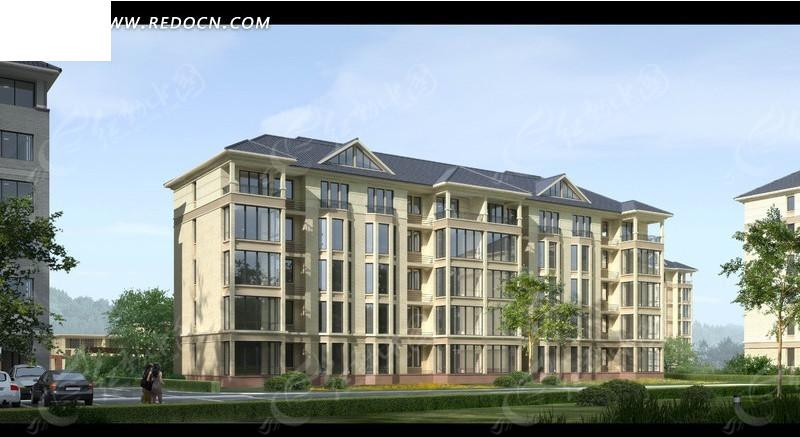 建筑表现——住宅小区后期效果图制作