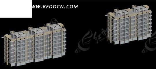 现代多层住宅小区建筑群