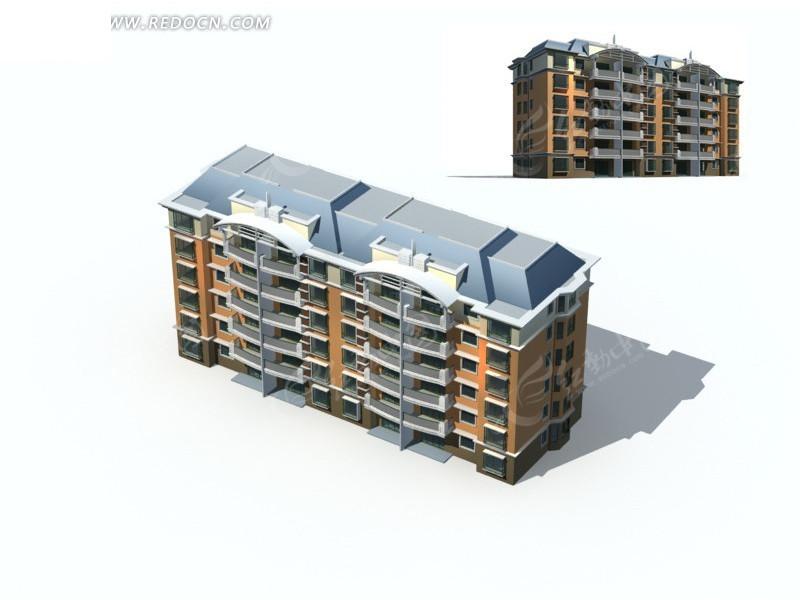 立体矩形设计住宅3d效果图图片高清图片