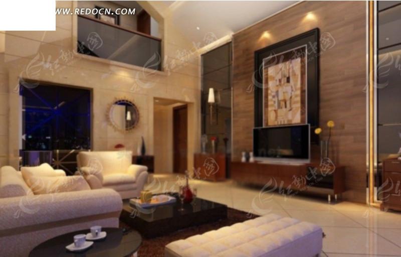简欧客厅室内装修效果图设计