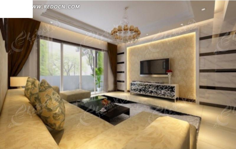 现代客厅室内效果图设计高清图片