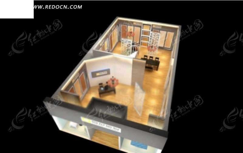 室内设计鸟瞰3d效果图图片