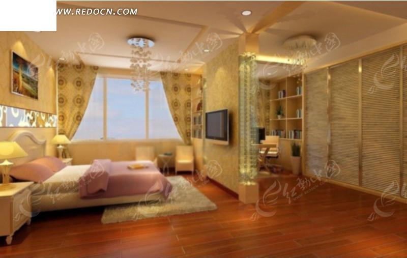 3d效果图 可爱风格卧室max模型设计 主卧室max模型设计 欧式风格的