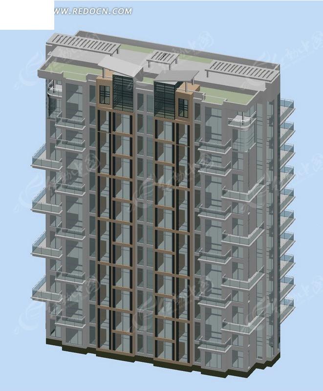 小高层住宅楼效果图 编号 1726507 建筑模型 3d模 高清图片