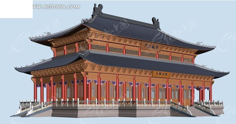 中国古建筑效果图_古建筑效果图免费下载园林景观效果图
