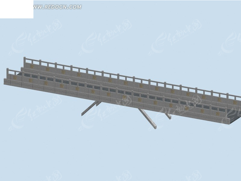 免费素材 3d素材 3d模型 其他模型 城市景观桥梁3d模弄设计