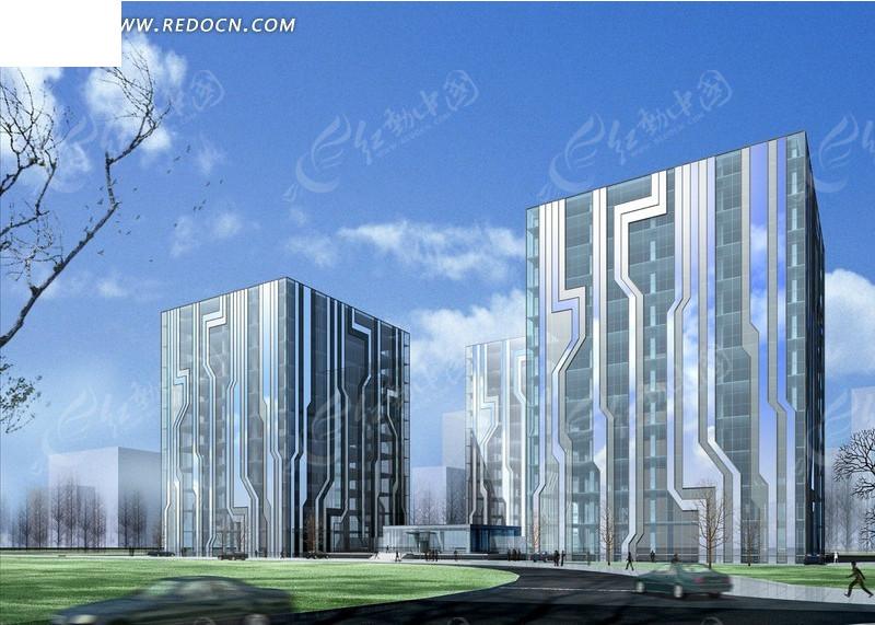 科幻风格 超现代风格 电路板外观建筑设计