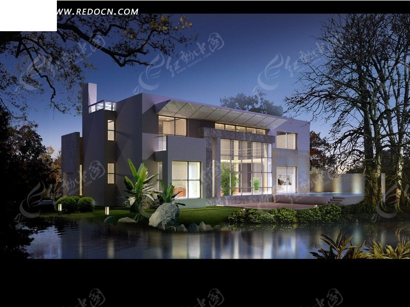 夜晚全国最豪华欧式别墅图片