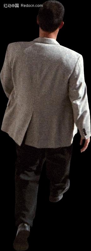 向前走路的男人背影图片