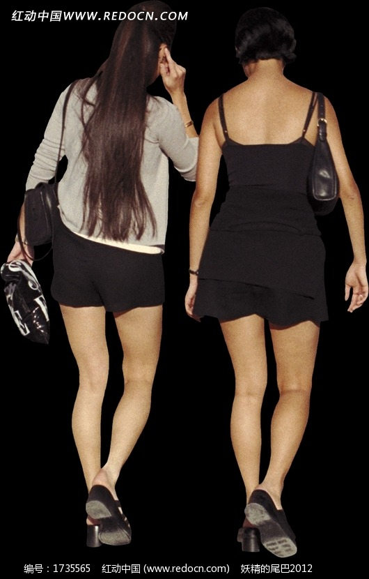 美女 走路/两个背着包包走路的美女背影