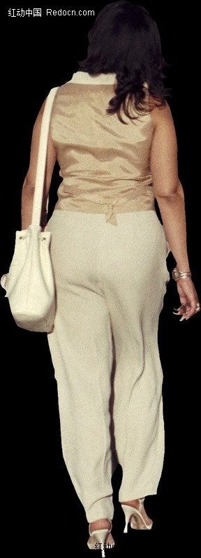 背着书包的女生背影; 我说的是留长指甲女孩的照片;