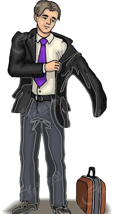 穿衣服的男子和手提包
