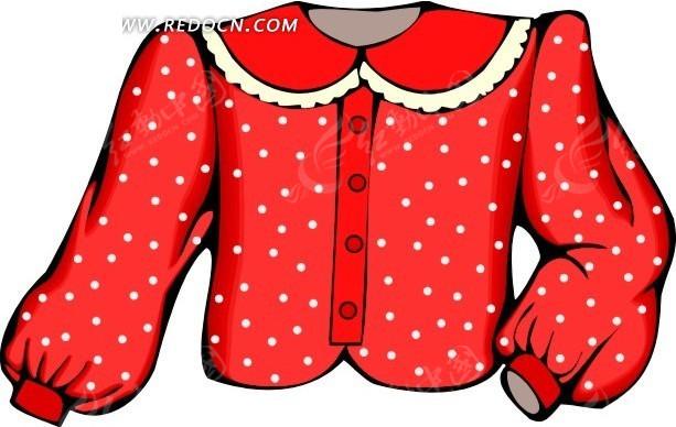 一件红色长袖衣服