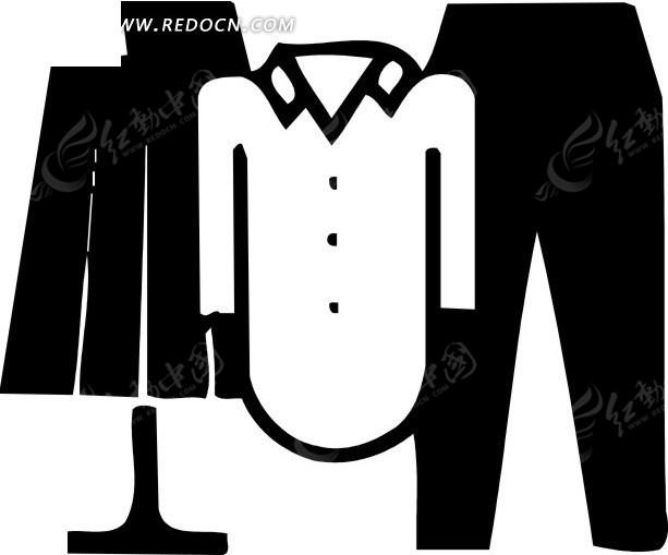 台灯 衣服 裤子 剪影 衬衣 eps素材 矢量 矢量素材 插画 卡通  生活