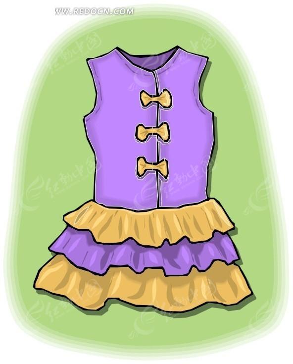 一件无袖连衣裙