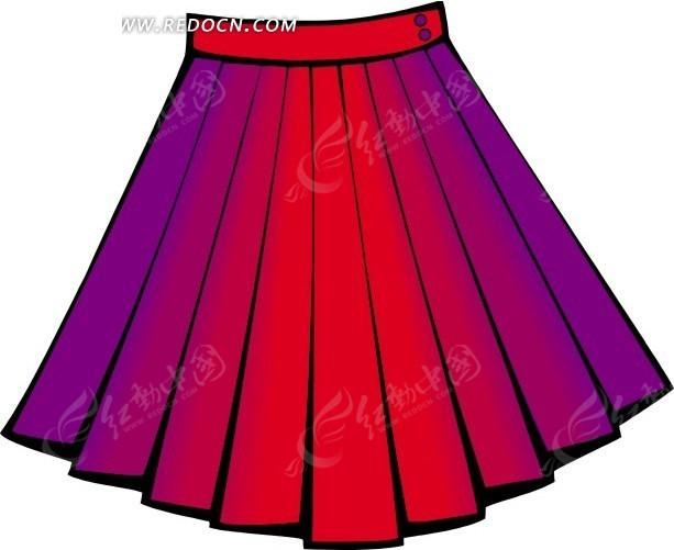 深红色裙子搭配