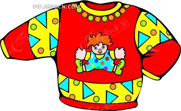 彩色圆领卡通图案儿童服饰设计其他免费下载