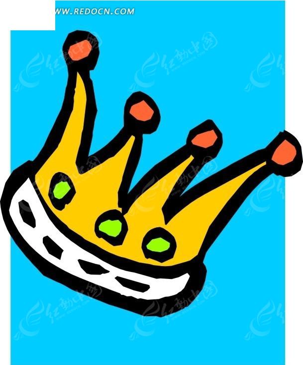 卡通皇冠插画
