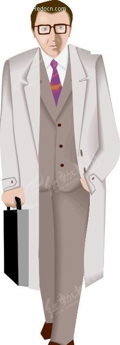 男人 男士 商务男士 卡通人物 卡通画 插画 手绘 矢量素材 人物图片