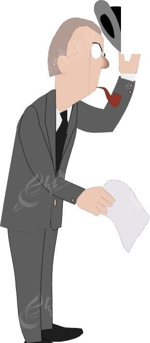 手绘摘帽敬礼的商务男士其他免费下载_职业人物素材