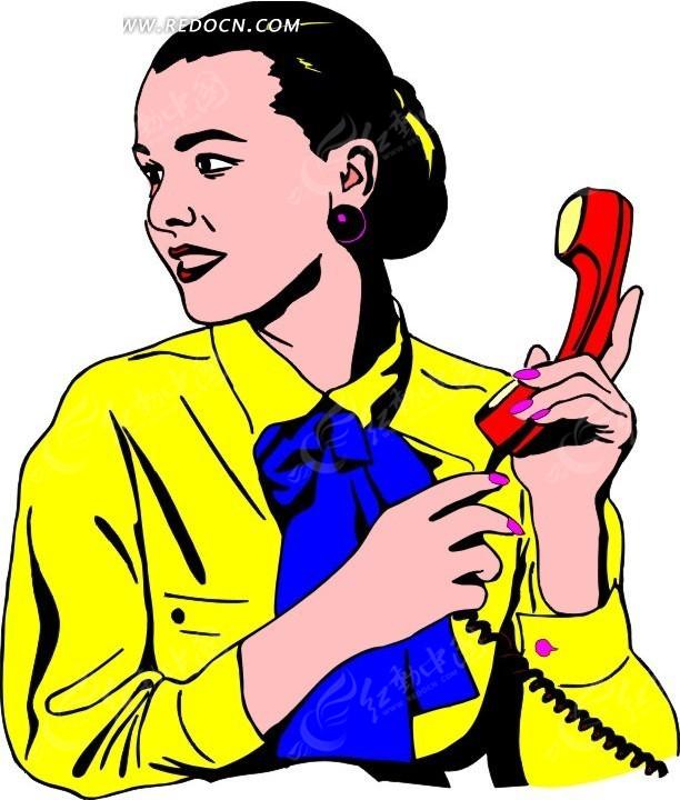 女士 商务女性 卡通人物 卡通画 插画 手绘 矢量素材 人物图片 职业