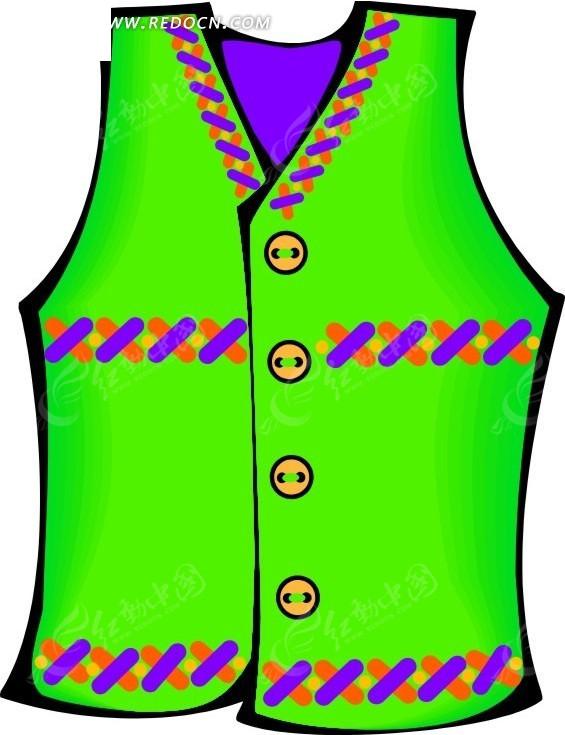 绿色调  马甲设计  手绘  衣服  时装  服饰  服装设计  生活百科