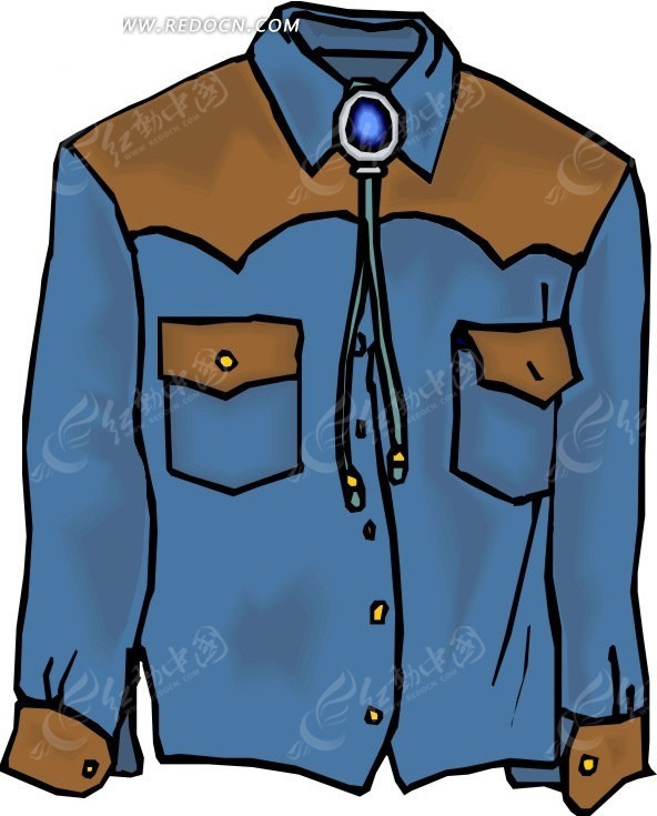 灰蓝色调  休闲  衬衫设计 手绘  衣服    服饰    服装设计  生活