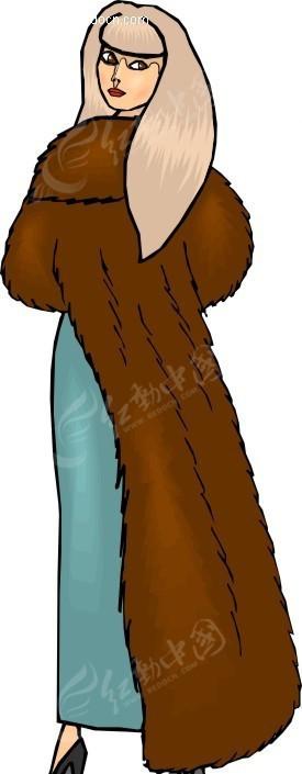 女性冬季服装设计展示wmf格式图片