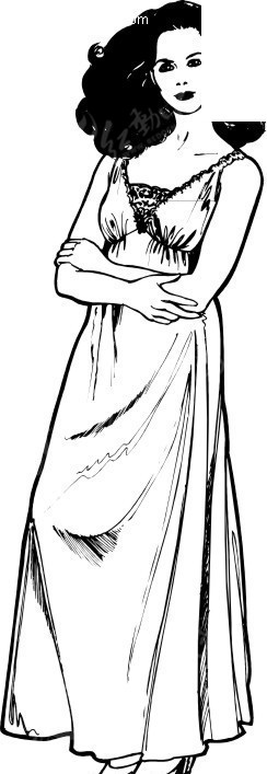 女性睡衣服装设计展示wmf格式