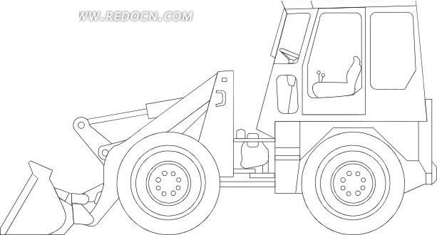 线描简笔画铲车其他素材免费下载 编号1741637 红动网